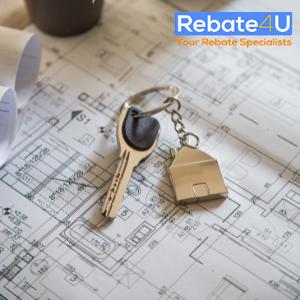 home renovation blue print and keys